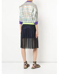 Kolor - Blue Sheer Pleated Skirt - Lyst