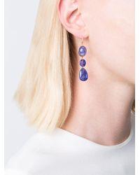 Marie-hélène De Taillac - Blue Triple Stones Earrings - Lyst