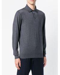 Ermenegildo Zegna - Gray Poloshirt mit Logo for Men - Lyst