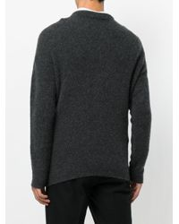 Giorgio Armani - Gray Round Neck Sweater for Men - Lyst