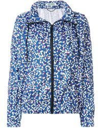 KENZO - Blue Floral Print Windbreaker - Lyst