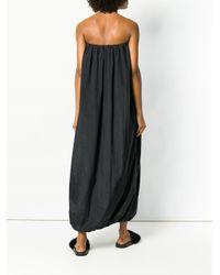 FEDERICA TOSI - Black Flared Long Dress - Lyst
