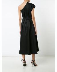 TOME - Black Single Shoulder Belted Dress - Lyst