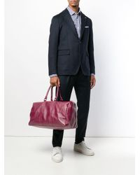 Fefe - Red Large Deer Skin Holdall for Men - Lyst