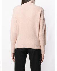 Dagmar - Pink Ester Turtleneck Brushed Sweater - Lyst