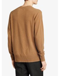 Burberry - Brown Cashmere V-neck Sweater for Men - Lyst