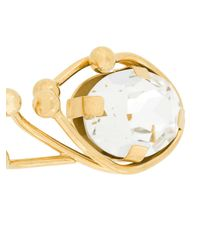 Marni - Metallic Crystal Eye Earrings - Lyst