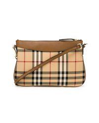 Burberry - Brown Horseferry Check Crossbody Bag - Lyst