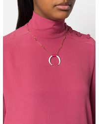 Aurelie Bidermann - Metallic Caftan Moon Necklace - Lyst
