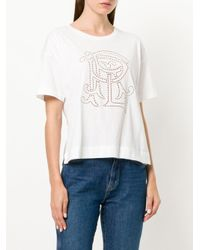 Polo Ralph Lauren - White Cut Out Logo T-shirt - Lyst