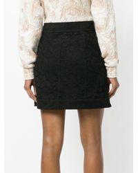 Chloé - Black Front Pocket Floral Skirt - Lyst