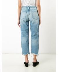 3x1 | Blue Cropped Pants | Lyst