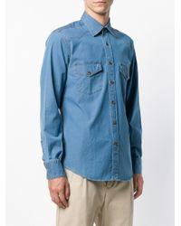 Canali - Blue Denim Shirt for Men - Lyst
