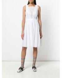 N°21 - White Full Skirt Sundress - Lyst