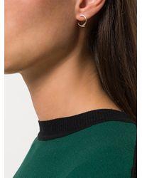 By Boe - Metallic Broken Loop Earrings - Lyst