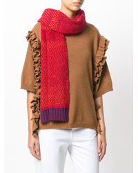 Missoni - Red Knitted Scarf - Lyst