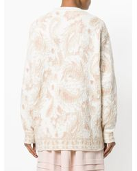 Chloé - Natural Patterned Oversized Sweater - Lyst