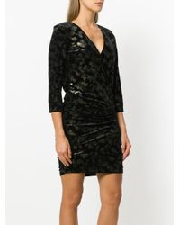 8pm - Black Textured Short Dress - Lyst