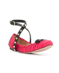 Valentino - Pink Garavani Rockstud Ballerinas - Lyst