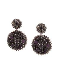 Oscar de la Renta - Metallic Disk Earrings - Lyst
