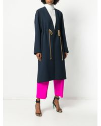 Roksanda - Blue Belted-waist Fitted Coat - Lyst
