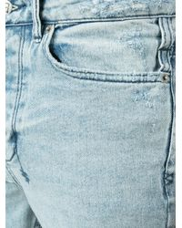 Ksubi - Blue Distressed Skinny Jeans for Men - Lyst