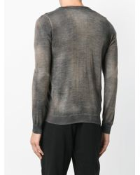 Avant Toi - Gray Mottled V-neck Cardigan for Men - Lyst