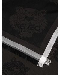 KENZO - Black Multi Tiger Scarf - Lyst