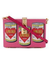 Dolce & Gabbana - Pink Box Clutch In Printed Lacquered Wood - Lyst