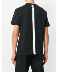 Les Hommes - Black Line Print T-shirt for Men - Lyst