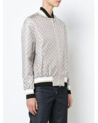 Versace - Multicolor Micro Studded Bomber Jacket - Lyst