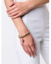 Loree Rodkin - Multicolor Carved Beads Diamond Charm Bracelet - Lyst