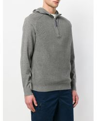 Patagonia - Gray Ribbed Slim Fit Hoodie for Men - Lyst