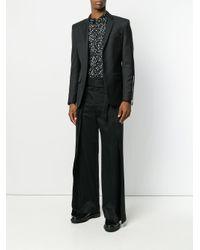Saint Laurent - Black Tie-waist Flared Trousers for Men - Lyst