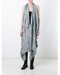 Masnada - Gray Tied Sleeveless Coat - Lyst