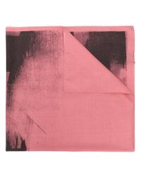 CALVIN KLEIN 205W39NYC - Pink X Andy Warhol Paint-like Printed Scarf - Lyst