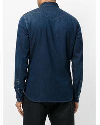 Hydrogen - Blue Fitted Denim Shirt for Men - Lyst