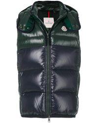 Moncler | Green Padded Hooded Gilet for Men | Lyst