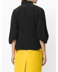 Prada - Black Crepe Shirt - Lyst