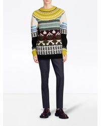 Burberry - Multicolor Fair Isle Multi-knit Sweater - Lyst