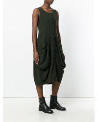 Rundholz Black Label Green Sleeveless Buttoned Dress