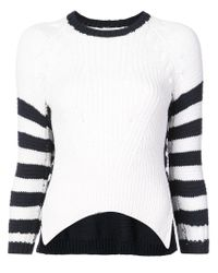Spencer Vladimir - White Contrast Striped Sweater - Lyst