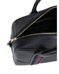 Paul Smith - Black Top Zip Briefcase for Men - Lyst