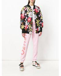 KENZO Pink Logo Print Track Pants