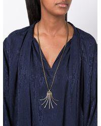 Lanvin - Metallic Spiral Spread Necklace - Lyst