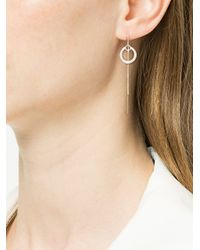 Petite Grand - Metallic Double Circle Thread Through Earrings - Lyst