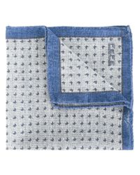 Fefe - Gray Micro Butterfly Pocket Square for Men - Lyst