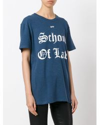 Off-White c/o Virgil Abloh - Blue School Of Law T-shirt - Lyst