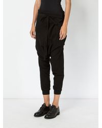 Aganovich - Black Drop Crotch Track Pants - Lyst
