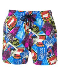 Vilebrequin Blue Queen Printed Swim Shorts for men